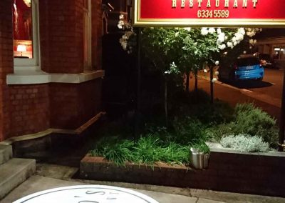 Novaro's Restaurant Launceston   Entrance Sign